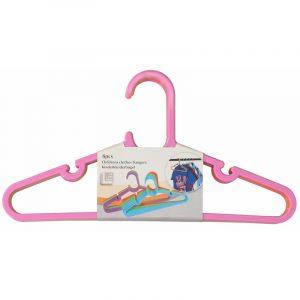 8x stuks plastic kinderkleding hangers