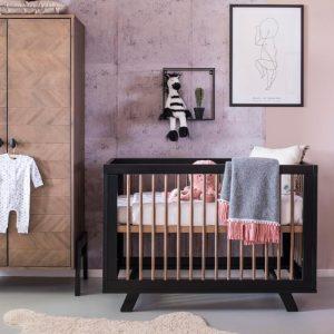 Coming Kids Harper Babykamer | Bed 60 x 120 cm + Commode + Kast 2-Deurs