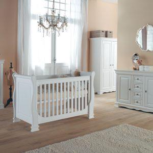 Kidsmill Louise de Philippe Babykamer Wit | Bed 70 x 140 cm + Commode + Kast