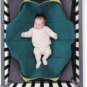 Hangloose Baby - Babyhangmat / Boxkleed - Petrol Okergeel