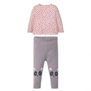 Baby kleding set 62/68, All-over-print/lichtroze