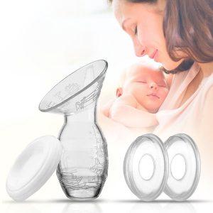 Borstkolf met lekschalen - Borstkolven - Kolfapparaat - Handkolf - Borstvoeding Kolf - Moedermelk Bewaren - Borstschelpen