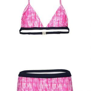 B.Nosy Meisjes bikini met short - Beetroot tie dye