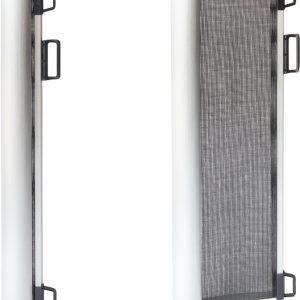 Rudolphy - Oprolbaar traphekje - veiligheidshekje - luxe aluminium - Zwart