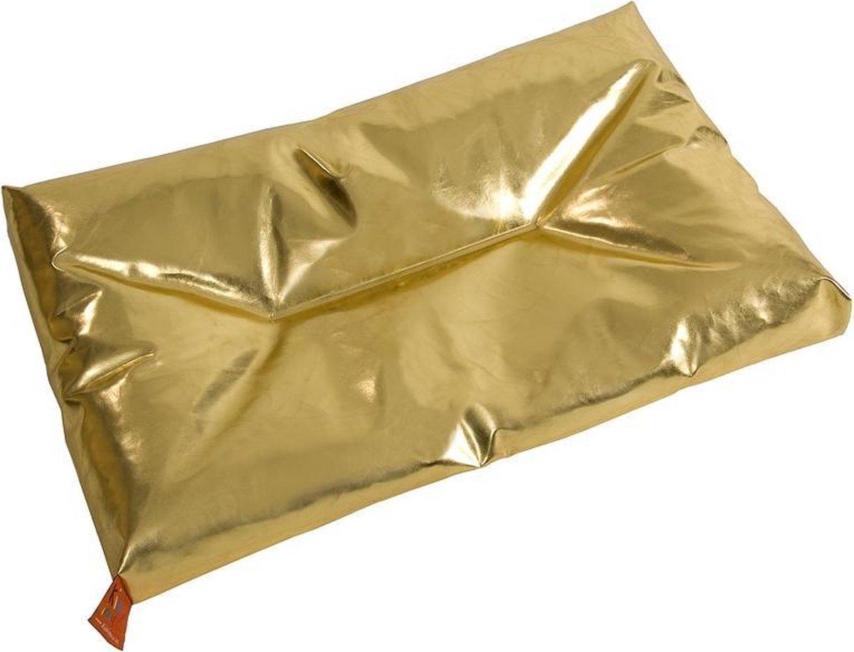 KidZ ImpulZ - Groot Aankleedkussen XXL 90x50 cm - Verschoonkussen - Waskussen - Extra dik - Goud (glanzend)
