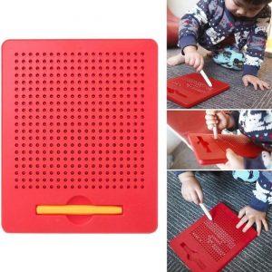 Magnetische balletjes - Magneet speelgoed balletjes - Ik leer schrijven - Leren tekenen - Educatief speelgoed - Bordspellen - 21.5x17.5CM