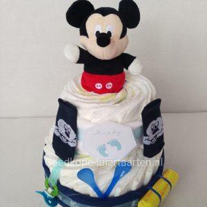 Mickey Mouse luiertaart - kraamcadeau jongen - baby cadeau - babyshower cadeau - zwanger