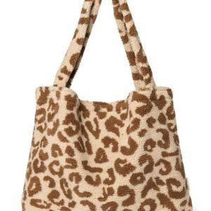 Studio Noos Teddy Leopard Ecru Mom Bag