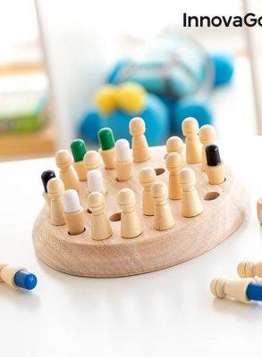 HOUTEN MEMORY SCHAKEN TAEDA INNOVAGOODS 26 ONDERDELEN - Speelgoed jongens - Speelgoed meisjes - Educatief speelgoed - Educatief speelgoed 3 jaar