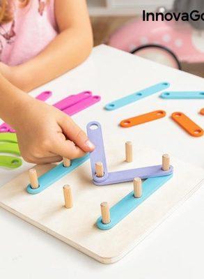 HOUTEN SET VOOR HET MAKEN VAN LETTERS EN CIJFERS - Speelgoed jongens - Speelgoed meisjes - Educatief speelgoed - Educatief speelgoed 3 jaar