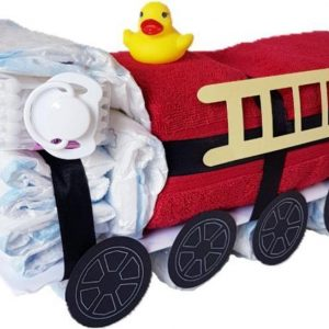 Luiertaart Brandweerauto   Kraamcadeau   Kraampakket   Baby Cadeau