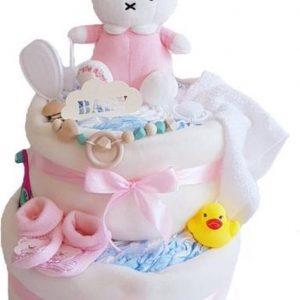 Luiertaart Nijntje Meisje Groot Met Speenkoord   Kraamcadeau   Kraampakket   Baby Cadeau