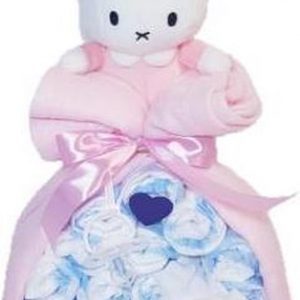 Luiertaart Nijntje Roze (stork)   Kraamcadeau   Kraampakket   Baby Cadeau