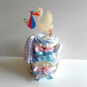 Luiertaart Ooievaar Baby Jongen & Meisje   Kraamcadeau   Kraampakket   Baby Cadeau