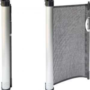 Rudolphy - Oprolbaar traphekje - veiligheidshekje - 3 type posities - luxe aluminium - Zwart