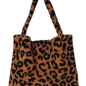 Studio Noos Teddy Leopard Brown Mom Bag